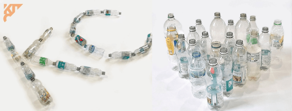 Plastic Bottles for recycling to make into polyester clothing